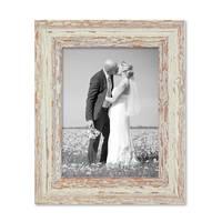 2er Set Vintage Bilderrahmen 15x20 cm Weiss Shabby-Chic Massivholz mit Glasscheibe und Zubehör / Fotorahmen / Nostalgierahmen  – Bild 7
