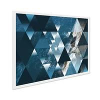 Design-Poster mit Bilderrahmen Weiss 'Sea' 30x40 cm Motiv See Ozean Abstrakt Landschaft – Bild 1