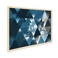 Design-Poster mit Bilderrahmen Natur 'Sea' 30x40 cm Motiv See Ozean Abstrakt Landschaft – Bild 1