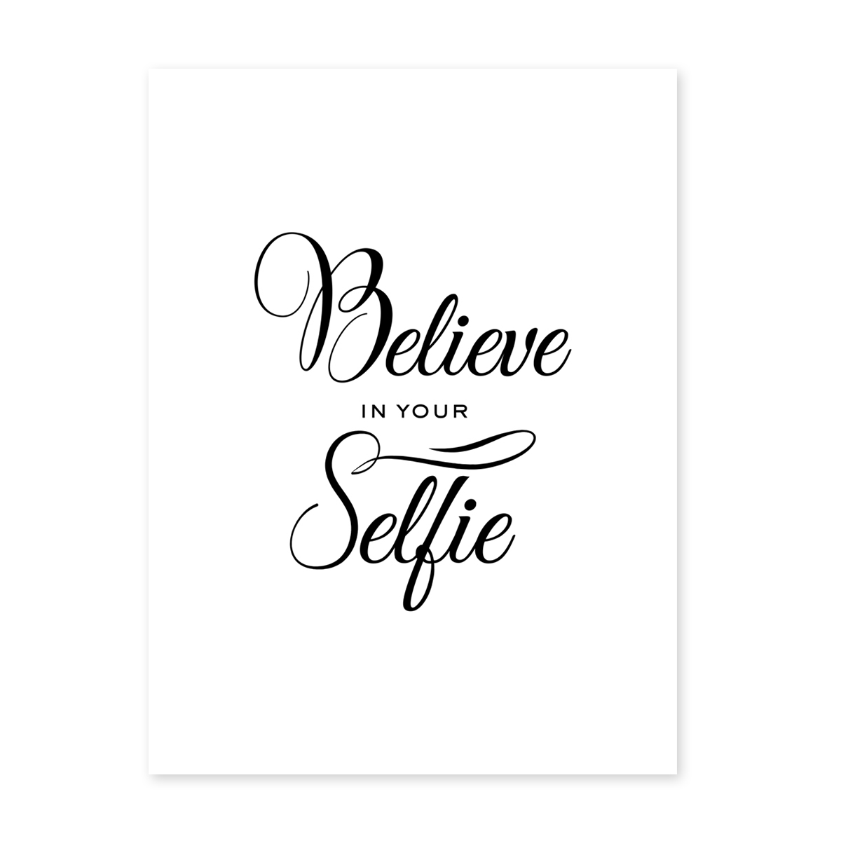 poster 39 selfie 39 30x40 cm schwarz weiss motiv fun spruch typographie poster spr che typographie. Black Bedroom Furniture Sets. Home Design Ideas