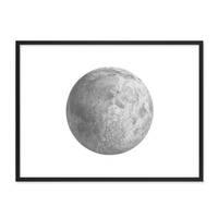 Design-Poster mit Bilderrahmen Schwarz 'Mond' 30x40 cm schwarz-weiss Motiv Zeichnung Modern – Bild 4