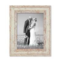 3er Set Vintage Bilderrahmen 15x20 cm Weiss Shabby-Chic Massivholz mit Glasscheibe und Zubehör / Fotorahmen / Nostalgierahmen  – Bild 7