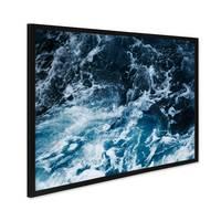 Poster mit Bilderrahmen Schwarz 'Splashing' 30x40 cm Motiv Wasser See Ozean Meer Natur Foto – Bild 1