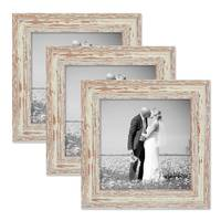 Vintage Bilderrahmen 3er Set 20x20 cm Weiss Shabby-Chic