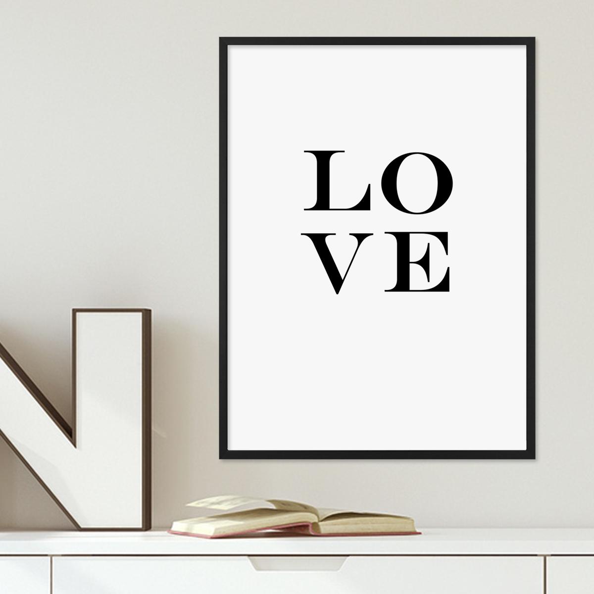Design-Poster mit Bilderrahmen Schwarz \'Love Letters\' 30x40 cm ...