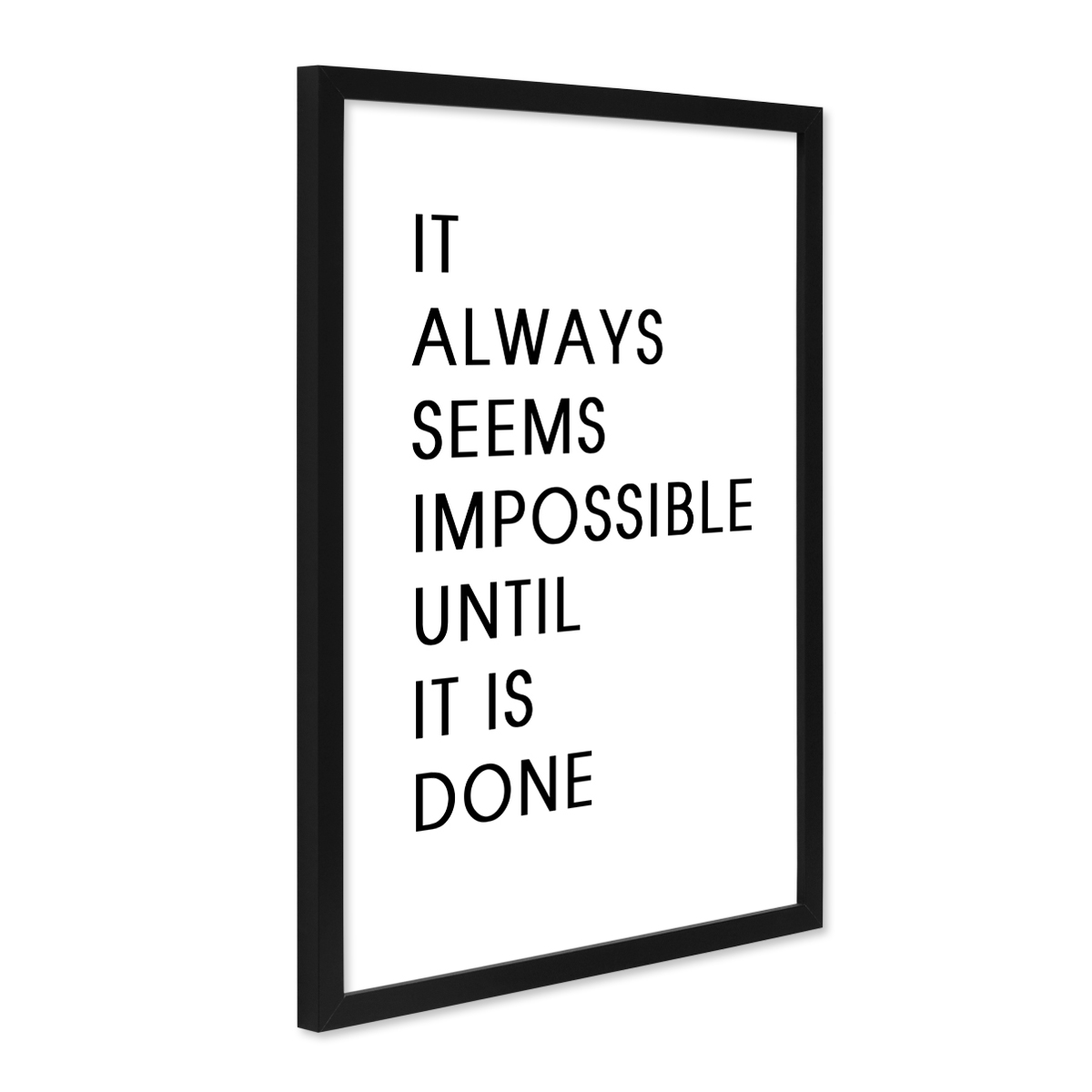 poster 39 impossible 39 30x40 cm schwarz weiss motiv spruch. Black Bedroom Furniture Sets. Home Design Ideas