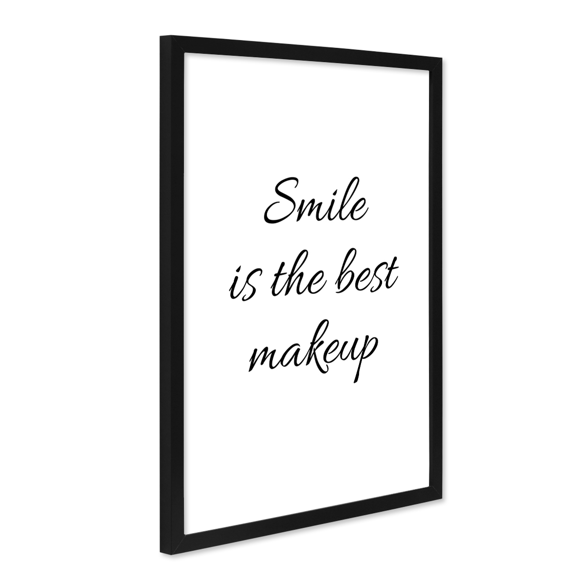 poster 39 smile 39 30x40 cm schwarz weiss motiv spruch typopgraphie modern poster spr che typographie. Black Bedroom Furniture Sets. Home Design Ideas