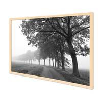 Poster mit Bilderrahmen Natur 'Lonely Road' 40x50 cm schwarz-weiss Motiv Natur Landschaft Straße – Bild 1