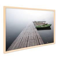 Poster mit Bilderrahmen Natur 'Brücke mit Booten' 40x50 cm Motiv Natur Landschaft Seebrücke Steg