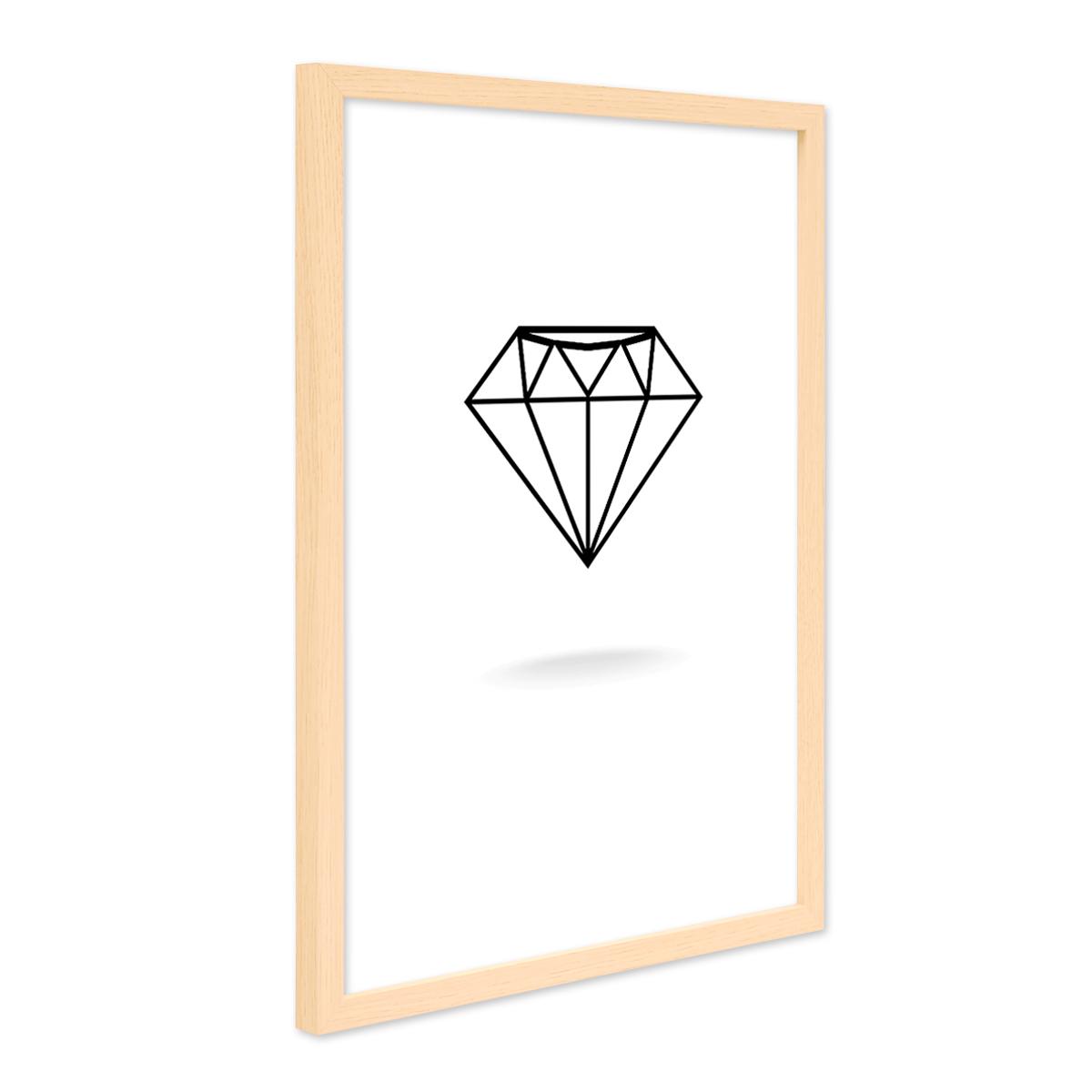 Design-Poster mit Bilderrahmen Natur \'Diamant\' 30x40 cm schwarz ...