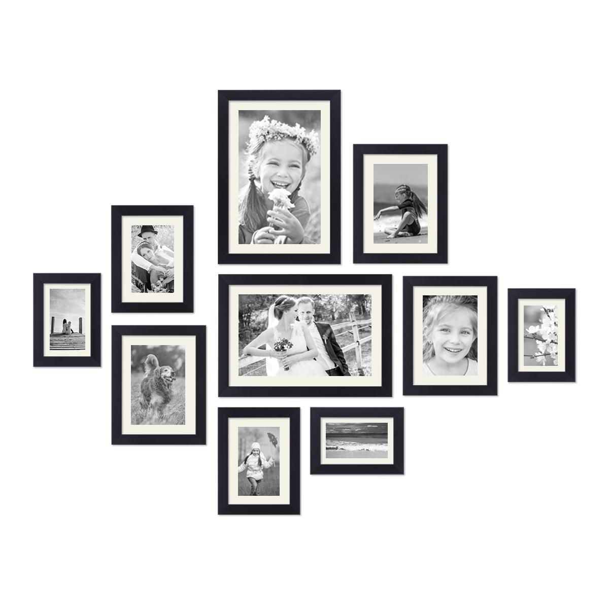 10er Set Passepartouts Weiß (je 2x für Rahmen 10x15, 13x18, 15x20 ...