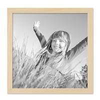 3er Set Bilderrahmen 30x30 cm Kiefer Natur Modern Massivholz-Rahmen mit Glasscheibe und Zubehör / Fotorahmen – Bild 6