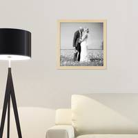 5er Set Bilderrahmen 30x30 cm Kiefer Natur Modern Massivholz-Rahmen mit Glasscheibe und Zubehör / Fotorahmen – Bild 2
