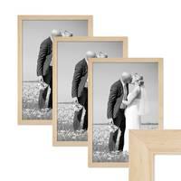 3er Bilderrahmen-Set 30x42 cm / DIN A3 Kiefer Natur Modern Massivholz-Rahmen