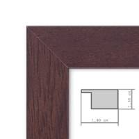 2er Set Bilderrahmen 18x24 cm Nuss Modern Massivholz-Rahmen mit Glasscheibe und Zubehör / Fotorahmen – Bild 4