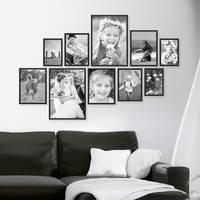 10er Set Alu-Bilderrahmen 10x15 bis 21x30 cm Modern Schwarz Aluminium-Rahmen mit Acrylglas / Bildergalerie / Foto-Collage – Bild 6