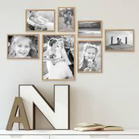 7er Set Alu-Bilderrahmen 10x15 bis 21x30 cm Modern Gold Aluminium-Rahmen mit Acrylglas / Bildergalerie / Foto-Collage – Bild 2