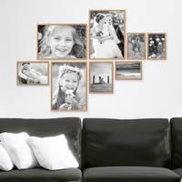 8er Set Alu-Bilderrahmen 10x15 bis 21x30 cm Modern Gold Aluminium-Rahmen mit Acrylglas / Bildergalerie / Foto-Collage – Bild 2