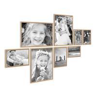 8er Set Alu-Bilderrahmen Modern Gold Aluminium-Rahmen mit Acrylglas