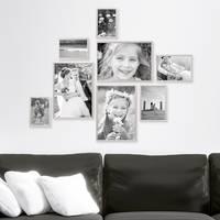 8er Set Alu-Bilderrahmen 10x15 bis 21x30 cm Modern Silber Aluminium-Rahmen mit Acrylglas / Bildergalerie / Foto-Collage – Bild 6