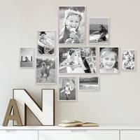 10er Set Alu-Bilderrahmen 10x15 bis 21x30 cm Modern Silber Aluminium-Rahmen mit Acrylglas / Bildergalerie / Foto-Collage – Bild 2