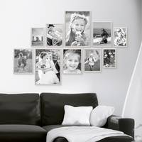 10er Set Alu-Bilderrahmen 10x15 bis 21x30 cm Modern Silber Aluminium-Rahmen mit Acrylglas / Bildergalerie / Foto-Collage – Bild 6