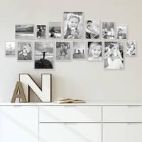 15er Set Alu-Bilderrahmen 10x15 bis 21x30 cm Modern Silber Aluminium-Rahmen mit Acrylglas / Bildergalerie / Foto-Collage