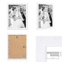 5er Bilderrahmen-Set 30x40 cm Basic Collection, Modern, Weiss, aus MDF, inklusive Zubehör / Bilderrahmen-Collage – Bild 2