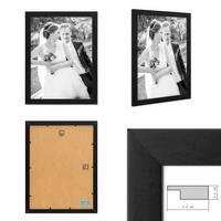 5er Bilderrahmen-Set 30x40 cm Basic Collection, Modern, Schwarz, aus MDF, inklusive Zubehör / Bilderrahmen-Collage – Bild 2