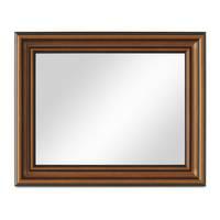 Wand-Spiegel 40x50 cm im Holzrahmen Antik Breit Dunkelbraun / Spiegelfläche 30x40 cm – Bild 5