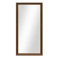 Wand-Spiegel 60x110 cm im Holzrahmen Antik Breit Dunkelbraun mit Goldkante / Spiegelfläche 50x100 cm – Bild 6