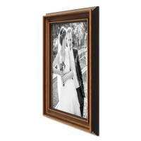 Bilderrahmen 30x42 cm / DIN A3 Antik Breit Dunkelbraun Massivholz mit Glasscheibe inkl. Zubehör – Bild 5