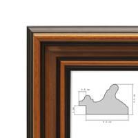 Bilderrahmen 50x60 cm Antik Breit Dunkelbraun Massivholz mit Glasscheibe inkl. Zubehör – Bild 6