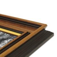 Bilderrahmen 50x70 cm Antik Breit Dunkelbraun mit Goldkante Massivholz mit Acrylglasscheibe inkl. Zubehör – Bild 3