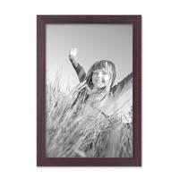 2er Set Bilderrahmen 21x30 cm / DIN A4 Nuss Modern Massivholz-Rahmen mit Glasscheibe und Zubehör / Fotorahmen  – Bild 4