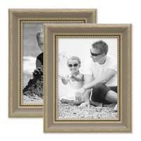 2er Bilderrahmen-Set 15x20 cm Grau Shabby-Chic Landhaus-Stil