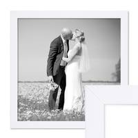 Bilderrahmen 30x30 cm Weiss Modern aus MDF mit Glasscheibe und Zubehör / Fotorahmen – Bild 1
