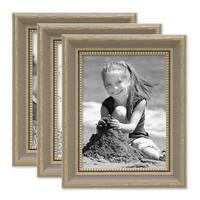 3er Bilderrahmen-Set 18x24 cm Grau Shabby-Chic Landhaus-Stil