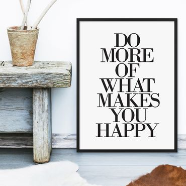 Design-Poster 'Do More of What Makes You Happy' 30x40 cm Typographie