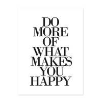 Design-Poster 'Do More of What Makes You Happy' 30x40 cm Typographie – Bild 2