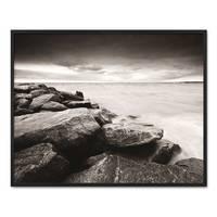 Poster 'Küste' 40x50 cm schwarz-weiss Motiv Natur Landschaft Maritim – Bild 3