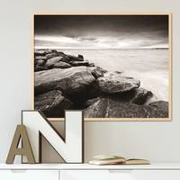 Poster 'Küste' 40x50 cm schwarz-weiss Motiv Natur Landschaft Maritim – Bild 5