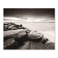 Poster 'Küste' 40x50 cm schwarz-weiss Motiv Natur Landschaft Maritim – Bild 2