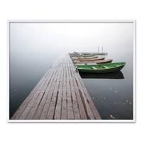 Poster 'Brücke mit Booten' 40x50 cm Landschaft Seebrücke Steg – Bild 4