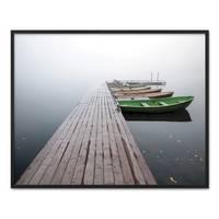 Poster 'Brücke mit Booten' 40x50 cm Landschaft Seebrücke Steg – Bild 3