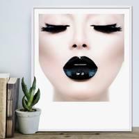 Design-Poster 'Schwarze Lippen' 40x50 cm Motiv Pop Art – Bild 4