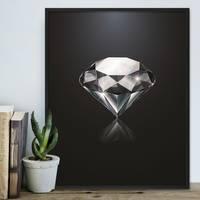 Design-Poster 'Diamant' 40x50 cm Motiv Abstrakt – Bild 3