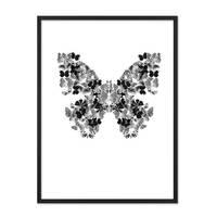 Design-Poster 'Schmetterling' 30x40 cm schwarz-weiss Motiv Natur – Bild 3