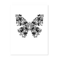 Design-Poster 'Schmetterling' 30x40 cm schwarz-weiss Motiv Natur – Bild 2