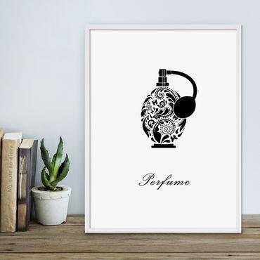 Design-Poster 'Parfüm' 30x40 cm schwarz-weiss Mode Dekoration